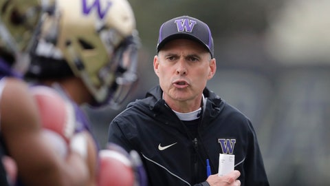<p>               FILE - In this April 3, 2019, file photo, Washington coach Chris Petersen watches players as they run drills during NCAA college football practice in Seattle. The defending Pac-12 champion Huskies lost numerous starters to graduation, but Petersen's team hopes to contend for another league title in a conference race that looks wide open as the opening week approaches. (AP Photo/Ted S. Warren, File)             </p>