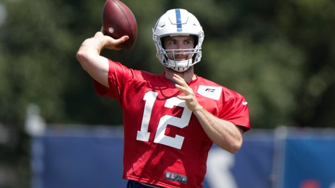 <p>               FILE - In this Thursday, July 25, 2019 file photo, Indianapolis Colts quarterback Andrew Luck (12) throws during practice at the NFL team's football training camp in Westfield, Ind. Andrew Luck will likely miss the rest of the preseason with an injury near the front of his left ankle, Tuesday, Aug. 13, 2019. Colts general manager Chris Ballard says the starting quarterback has been dealing with pain in that area since straining his left calf in March. Luck missed all of the team's offseason workouts and has not participated in full team drills at training camp because of the lingering pain. (AP Photo/Michael Conroy, File)             </p>
