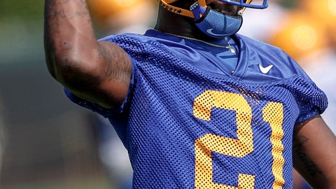 <p>               In this photo from Aug. 2, 2019, Pittsburgh running back A.J. Davis tosses a ball during an NCAA football practice in Pittsburgh. Davis and Todd Sibley Jr. are well aware of the running back lineage at Pitt. All they have to do in their first year is find a way to replace Qadree Ollison and Darrin Hall, who each topped 1,000 yards last year for the Panthers. (AP Photo/Keith Srakocic)             </p>