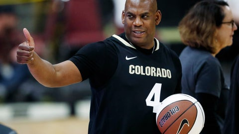 <p>               FILE - In this Thursday, March 7, 2019, file photo, Colorado head football coach Mel Tucker gestures to fans in the first half of an NCAA college basketball game as Colorado hosts UCLA in Boulder, Colo. Tucker will make his head coaching debut when he leads the Buffaloes on to the gridiron in Denver Friday night to face intrastate rival Colorado State. (AP Photo/David Zalubowski, File)             </p>