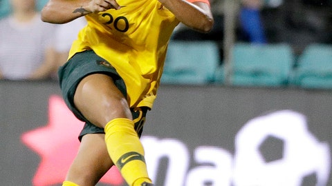<p>               FILE - In this Feb. 28, 2019, file photo, Australia's Samantha Kerr plays against New Zealand during a Cup of Nations soccer match in Sydney, Australia. Kerr sat down on a metal bench after taking a few extra shots after a Chicago Red Stars practice. Red Stars coach Rory Dames poked fun at her competitive streak, and Kerr just laughed it off. If the Aussie star is on her way out of town, it was hard to tell on a picturesque summer afternoon in suburban Chicago.  (AP Photo/Rick Rycroft, File)             </p>