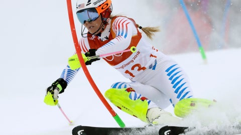 <p>               FILE - In this Thursday, Feb. 22, 2018 file photo, Lindsey Vonn competes in the women's combined slalom at the 2018 Winter Olympics in Jeongseon, South Korea. Retirement hasn't slowed down Lindsey Vonn. The all-time winningest female skier in World Cup history has found new adventures like cliff diving with boyfriend and NHL defenseman P.K. Subban, finishing her memoir set to be published next year and serving as an executive producer of a film with Robert Redford. Vonn's never been one to sit back and take it easy. (AP Photo/Luca Bruno, File)             </p>