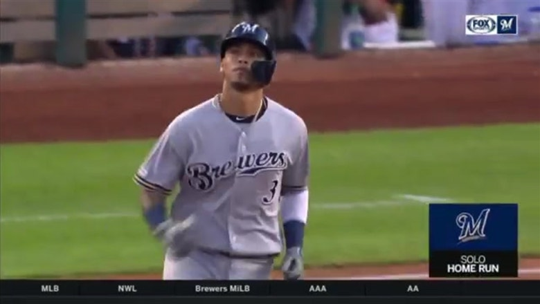 WATCH: Brewers' Arcia hits solo shot in series opener vs. Nationals