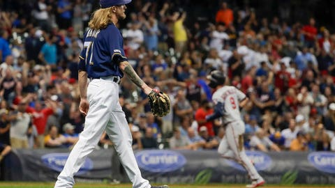 Josh Hader, Brewers reliever (↓ DOWN)