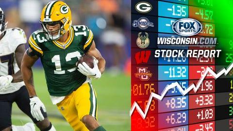 Allen Lazard, Packers wide receiver (↑ UP)