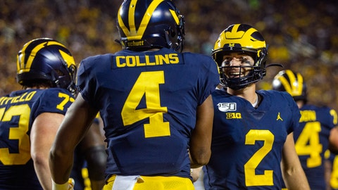 QB Shea Patterson dealt with injury during Michigan's win