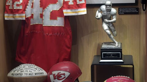 Johnny Robinson display case in Canton