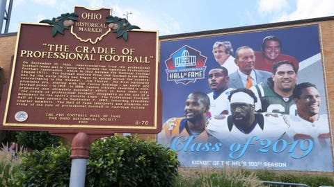 Pro Football Hall of Fame grounds in Canton, Ohio