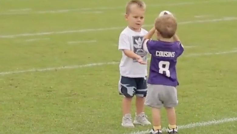 Top Tweets: Cousins, Thielen's sons score adorable Vikings touchdown