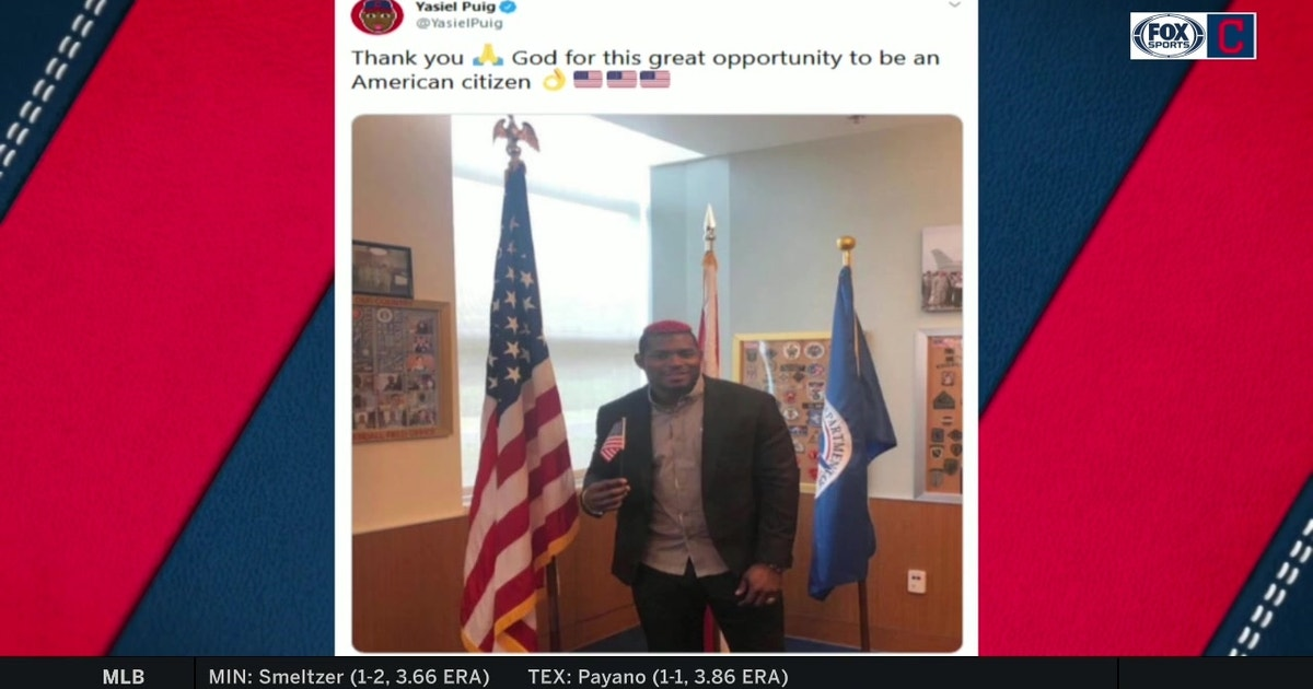 Yasiel Puig became a U.S. citizen while serving his suspension