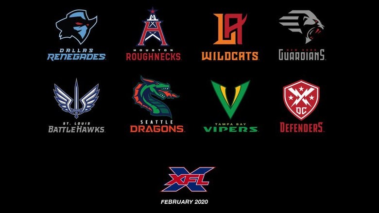 The XFL unveils the official team names and logos for all 8 franchises