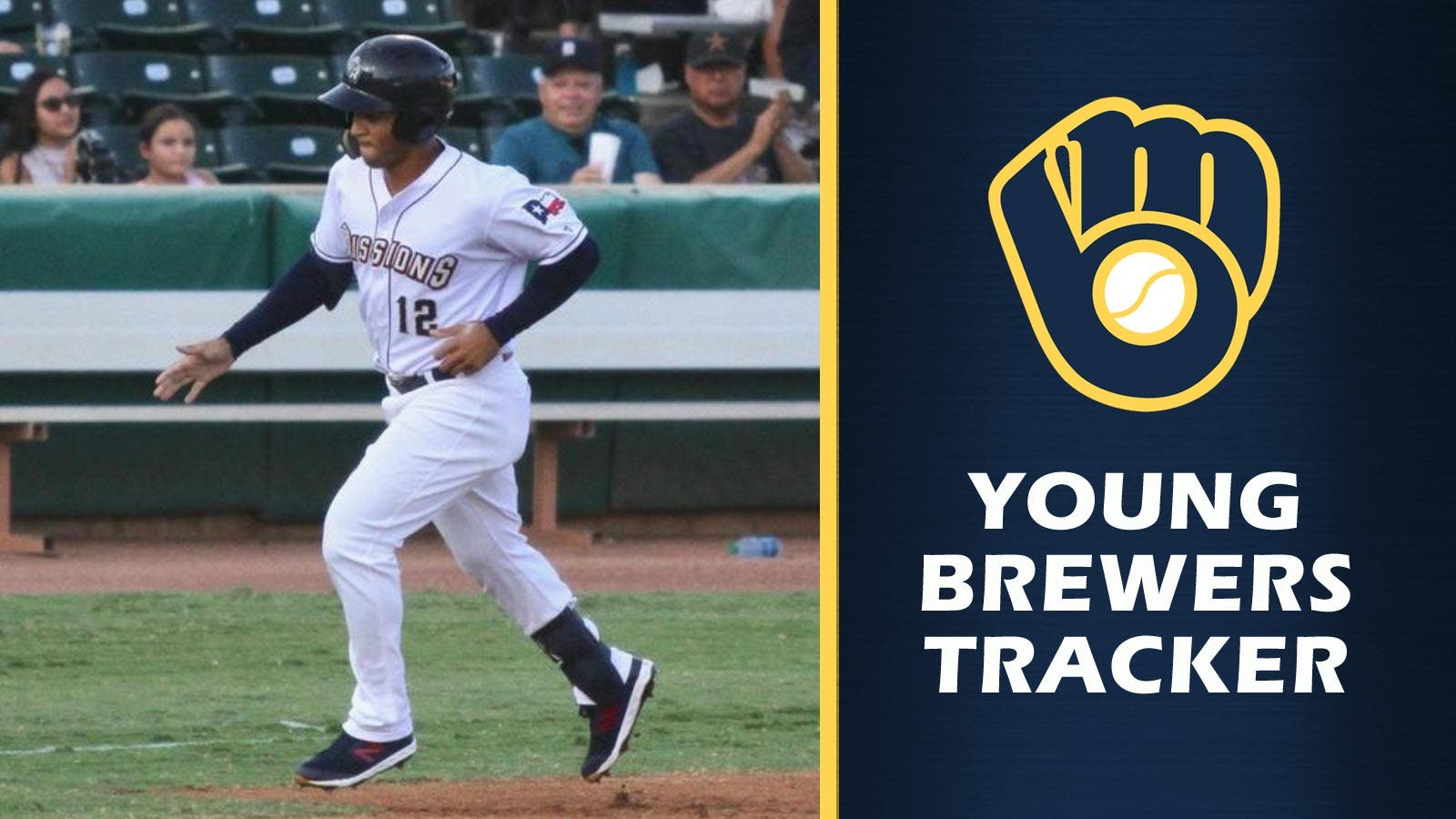 cheaper 844a9 77cbc Trent Grisham making Brewers debut after hitting for cycle ...