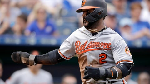 <p>               Baltimore Orioles' Jonathan Villar runs home to score on a fielder's choice hit into by Pedro Severino during the sixth inning of a baseball game against the Kansas City Royals, Sunday, Sept. 1, 2019, in Kansas City, Mo. (AP Photo/Charlie Riedel)             </p>