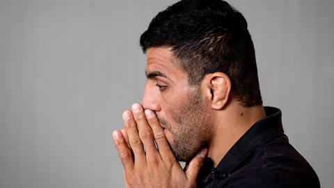 <p>               In this photo taken Sept. 12, 2019, Iranian judoka Saeid Mollaei poses for a portrait photo at an undisclosed southern city of Germany. Saeid Mollaei has been in hiding since he left the Iranian judo team last month, saying he had been ordered to withdraw from the world championships on political grounds. (AP Photo/Michael Probst)             </p>