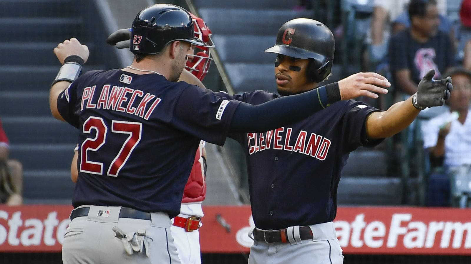 Indians hold off Angels 4-3 for sweep as Carrasco gets win