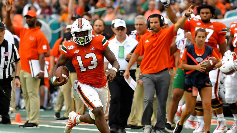 Miami drubs Bethune-Cookman 63-0 to give Manny Diaz his 1st win as head coach