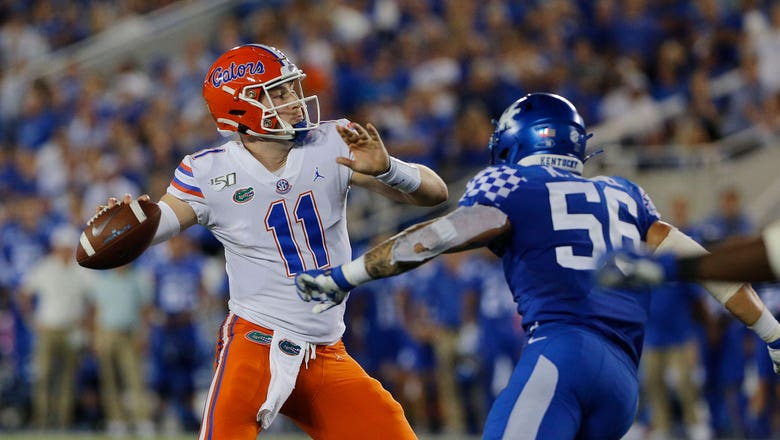No. 9 Florida QB Kyle Trask called upon for first start since '12
