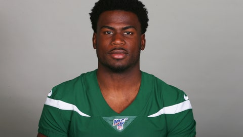<p>               This is a 2019 file photo showing Quincy Enunwa of the New York Jets NFL football team. Jets wide receiver Quincy Enunwa will be sidelined the rest of the season with a neck injury, his second in just over two years. Coach Adam Gase says Wednesday, Sept. 11, 2019, that Enunwa is still undergoing tests to determine the severity. He also wouldn't speculate as to whether the injury could threaten Enunwa's career. (AP Photo/File)             </p>