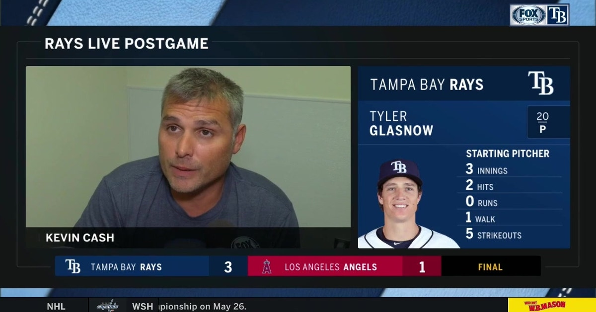 Kevin Cash recaps Tyler Glasnow's start, series win in LA