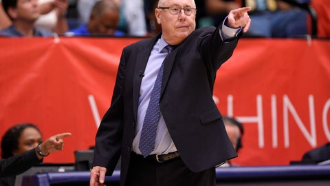 "<p>               FILE - In this Aug. 31, 2018, file photo, Washington Mystics head coach Mike Thibault gestures during the second half of Game 3 of a WNBA basketball playoffs semifinal against the Atlanta Dream, in Washington. The Mystics hold a half-game lead on Connecticut for the top spot. With a few games to play. The Sun hold the tiebreaker between the teams.  ""We're still playing for something,"" Thibault said by phone Monday. ""It's a big deal to have homecourt all the way through and have a potential Game 5 in the finals at your home.""  (AP Photo/Nick Wass, File)             </p>"