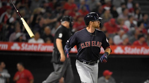 <p>               Cleveland Indians' Jordan Luplow runs to first after hitting a two-run home run during the second inning of the team's baseball game against the Los Angeles Angels on Tuesday, Sept. 10, 2019, in Anaheim, Calif. (AP Photo/Mark J. Terrill)             </p>