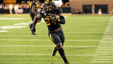 <p>               Missouri running back Larry Rountree III runs the ball during the second half of an NCAA college football game against Southeast Missouri State, Saturday, Sept. 14, 2019, in Columbia, Mo. (AP Photo/L.G. Patterson)             </p>