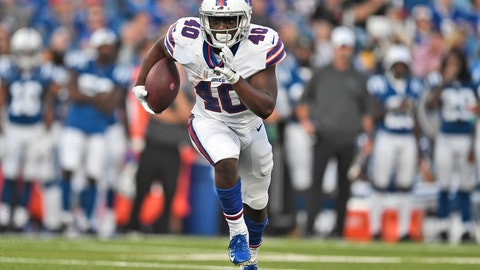 <p>               FILE - In this Aug. 8, 2019, file photo, Buffalo Bills' Devin Singletary runs the ball during the first half of an NFL preseason football game against the Indianapolis Colts, in Orchard Park, N.Y. Singletary's encouraging performance through training camp and the preseason led to the Buffalo Bills' decision to release LeSean McCoy last weekend. Singletary will open the season at the New York Jets this weekend splitting the starting job with veteran Frank Gore.  (AP Photo/Adrian Kraus, File)             </p>