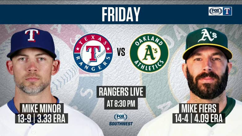 Mike Minor Takes the Mound in Oakland Next | Rangers Live