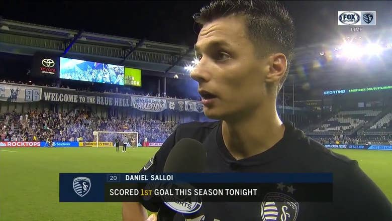 Salloi after first goal in home finale: 'It's been a difficult year'