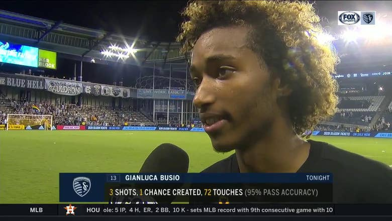 Busio: 'Take the good and the bad, keep moving forward'