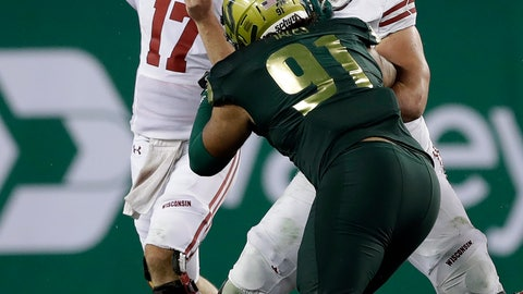 <p>               Wisconsin quarterback Jack Coan (17) throws a pass against South Florida during the second half of an NCAA college football game Friday, Aug. 30, 2019, in Tampa, Fla. (AP Photo/Chris O'Meara)             </p>