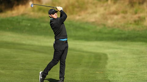 <p>               Northern Ireland's Rory McIlroy in action on day two of the PGA Championship at Wentworth Golf Club, England, Thursday Sept. 19, 2019. (Bradley Collyer/PA via AP)             </p>