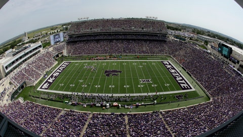<p>               FILE - This Sept 7, 2019, file photo shows fans filling Bill Snyder Family Stadium during the first half of an NCAA college football game between Kansas State and Bowling Green in Manhattan, Kan. _ In the midst of another rout to begin Chris Klieman's tenure as the Kansas State coach, athletic director Gene Taylor announced more than $100 million in renovations to the football stadium and other facilities. In other words: It's a good time to be K-State. (AP Photo/Charlie Riedel, File)             </p>