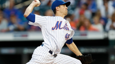 <p>               New York Mets starting pitcher Jacob deGrom winds up during the first inning of a baseball game against the Chicago Cubs, Thursday, Aug. 29, 2019, in New York. (AP Photo/Kathy Willens)             </p>