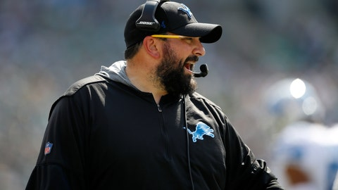 <p>               Detroit Lions head coach Matt Patricia yells from the sideline during the first half of an NFL football game against the Philadelphia Eagles, Sunday, Sept. 22, 2019, in Philadelphia. (AP Photo/Matt Rourke)             </p>