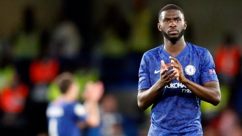 <p>               Chelsea's Fikayo Tomori applauds to supporters at the end of the Champions League Group H soccer match between Chelsea and Valencia at Stamford Bridge stadium in London, Tuesday, Sept. 17, 2019. (AP Photo/Frank Augstein)             </p>