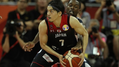 <p>               United States' Harrison Barnes tries to steal the ball from Japan's Ryusei Shinoyama during a Group E match for the FIBA Basketball World Cup at the Shanghai Oriental Sports Center in Shanghai on Thursday, Sept. 5, 2019. (AP Photo/Ng Han Guan)             </p>