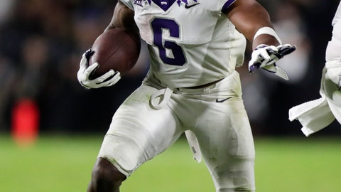 <p>               TCU running back Darius Anderson runs against Purdue during the second half of an NCAA college football game in West Lafayette, Ind., Saturday, Sept. 14, 2019. (AP Photo/Michael Conroy)             </p>