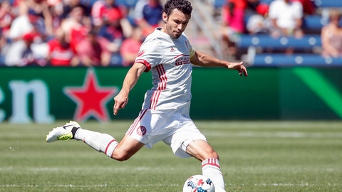 <p>               FILE - In this June 10, 2017, file photo, Atlanta United defender Michael Parkhurst is shown in action against the Chicago Fire during the first half of an MLS soccer match, in Bridgeview, Ill. Atlanta United captain Michael Parkhurst will retire at the end of the season. Parkhurst announced his decision Monday, Sept. 23, 2019, before the team trained for a crucial match at New York City FC. (AP Photo/Kamil Krzaczynski, File)             </p>