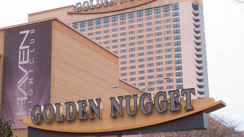 <p>               This Feb. 22, 2019 photo shows the exterior of the Golden Nugget casino in Atlantic City N.J. On Friday, Sept. 13, 2019, New Jersey Gov. Phil Murphy signed a bill allowing the casino to accept NBA bets on games that don't involve the Houston Rockets, a team owned by Golden Nugget owner Tilman Fertitta. (AP Photo/Wayne Parry)             </p>