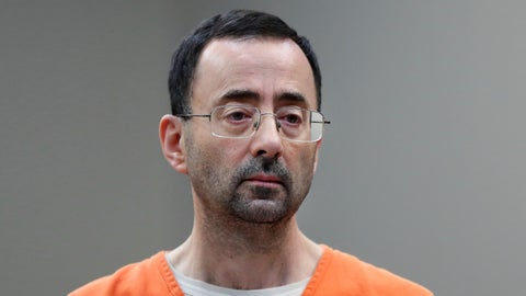 <p>               FILE - In this Nov. 22, 2017, file photo, Larry Nassar, 54, appears in court for a plea hearing in Lansing, Mich. The government's $4.5 million fine against Michigan State University in the Nassar sexual assault scandal is unprecedented. The U.S. Education Department has extraordinary leverage over schools that participate in federal student aid programs. (AP Photo/Paul Sancya, File)             </p>