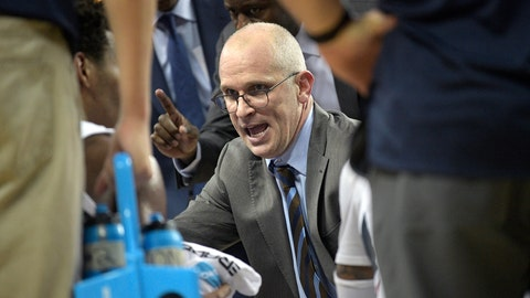 <p>               FILE - In this Thursday, Jan. 31, 2019 file photo, Connecticut head coach Dan Hurley, center, talks to his players during a timeout in the second half of an NCAA basketball game against Central Florida in Orlando, Fla. UConn men's basketball coach Dan Hurley is back at work full time, less than two weeks after having surgery for a degenerative spinal condition that required replacing two disks in his neck with artificial ones. On Wednesday, Sept. 18, 2019 Hurley described the fear he felt when doctors told him in August that he needed surgery and that any hard fall or bump could have left him paralyzed.  (AP Photo/Phelan M. Ebenhack, File)             </p>