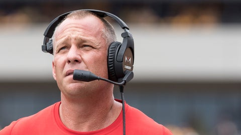 <p>               North Carolina State head coach Dave Doeren looks up at the scoreboard during the first half of an NCAA college football game against West Virginia Saturday, Sept. 14, 2019, in Morgantown, W.Va. (AP Photo/Raymond Thompson)             </p>