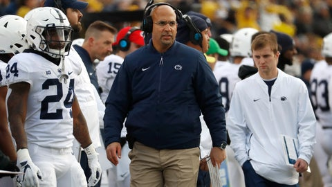 <p>               FILE - In this Nov. 3, 2018, file photo, Penn State head coach James Franklin watches in the first half of an NCAA college football game against Michigan in Ann Arbor, Mich. For good reason, Maryland first-year coach Mike Locksley has no desire to look into the past before leading the Terrapins into Friday night's matchup with No. 12 Penn State. Locksley insists recent results in the terribly lopsided Penn State-Maryland series will have no bearing on what happens before a rare sellout crowd in College Park for the Big Ten opener. Funny thing is, Nittany Lions coach James Franklin agrees with the assessment. (AP Photo/Paul Sancya, File)             </p>
