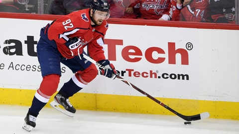 <p>               FILE - In this April 24, 2019 file photo, Washington Capitals center Evgeny Kuznetsov (92), of Russia, skates with the puck during the third period of Game 7 of an NHL hockey first-round playoff series against the Carolina Hurricanes in Washington.  Kuznetsov has been suspended without pay for three regular-season games by the NHL for inappropriate conduct, less than a month after he was banned from playing for Russia for four years because of a positive test for cocaine. The NHL announced its punishment Saturday, Sept. 14, saying it followed a meeting with Commissioner Gary Bettman on Monday. Kuznetsov will not appeal.  (AP Photo/Nick Wass, File)             </p>