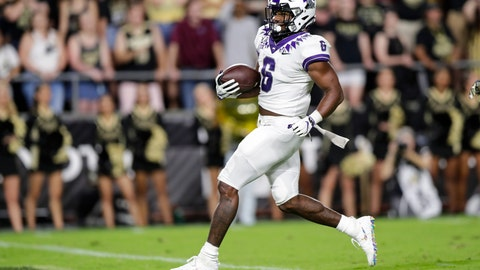 <p>               TCU running back Darius Anderson runs in for a touchdown against Purdue during the first half of an NCAA college football game in West Lafayette, Ind., Saturday, Sept. 14, 2019. (AP Photo/Michael Conroy)             </p>