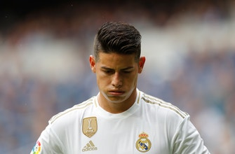 James Rodríguez gets 2nd chance after return to Real