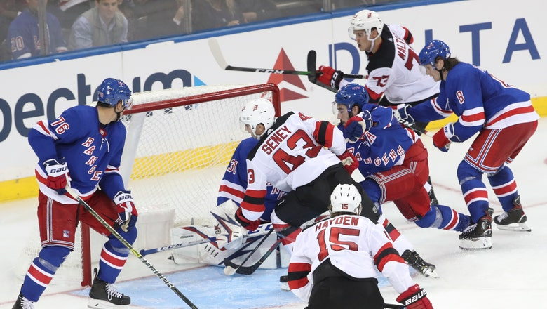 Devils spoil preseason debut for new Rangers Panarin, Kakko