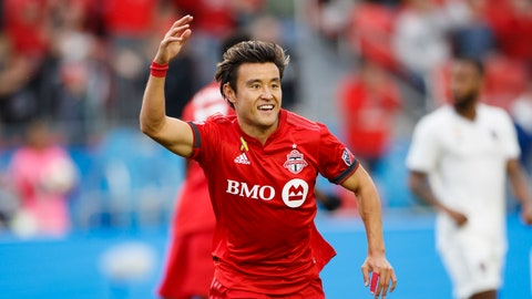 <p>               Toronto FC forward Tsubasa Endoh (31) celebrates a goal in the first half of MLS action against the Colorado Rapids at BMO Field in Toronto, Sunday, Sept. 15 2019. (Cole Burston/The Canadian Press via AP)             </p>