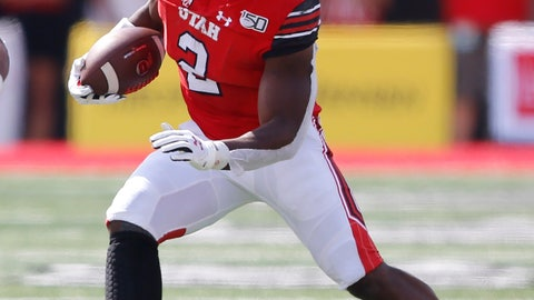 <p>               Utah running back Zack Moss (2) carries the ball against Northern Illinois in the first half of an NCAA college football game Saturday, Sept. 9, 2019, Salt Lake City. (AP Photo/Rick Bowmer)             </p>